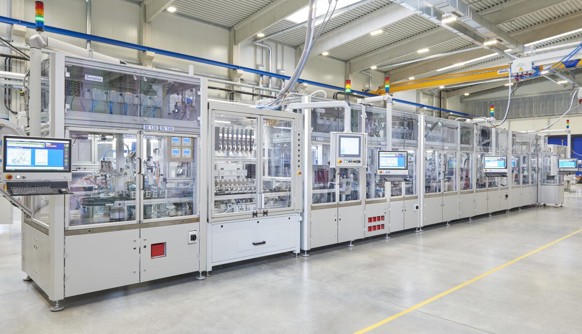 Montagelinie Magnetventil Assembly line solenoid valve