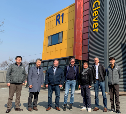 Sonplas visiting Clever in Cheongju (South Korea) in February 2020